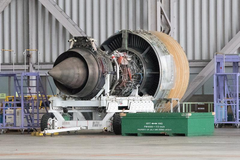JALの工場見学にて ジェットエンジン