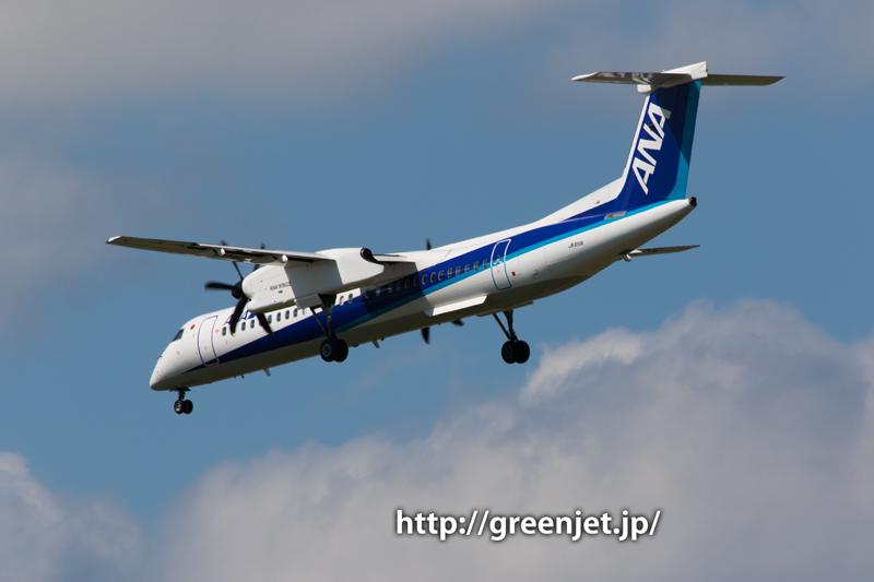 伊丹 千里川土手 ANAウイングス Bombardier DHC-8-402Q Dash 8