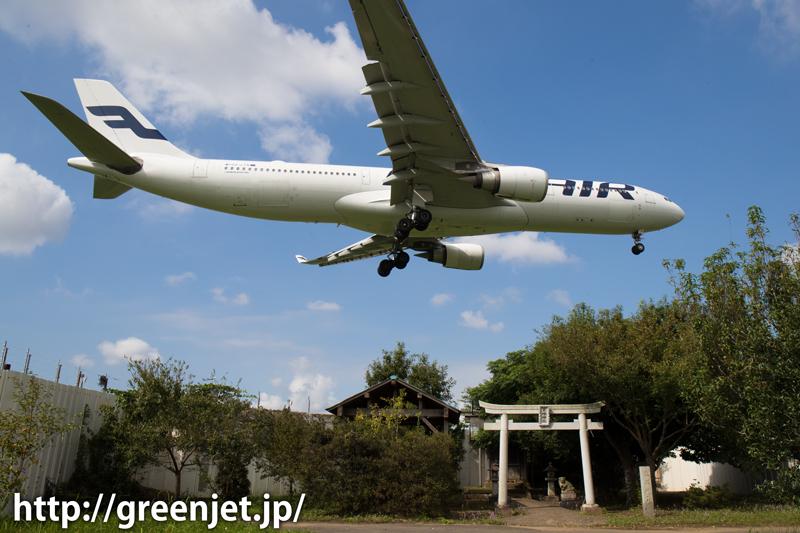 成田 東峰神社にて フィンエアー エアバス A330-302X