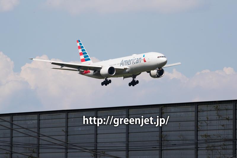 成田 十余三東雲の丘 アメリカン航空 ボーイング 777-223/ER