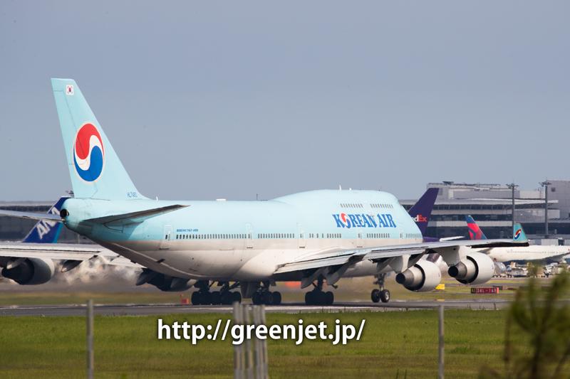 成田 さくらの山 大韓航空 ボーイング 747-4B5
