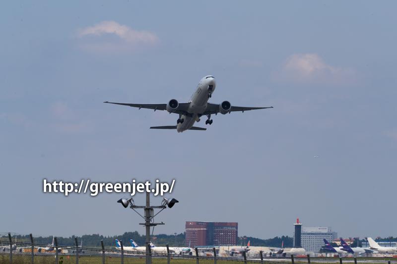 成田 ひこうきの丘 シンガポール航空 ボーイング 777-312/ER