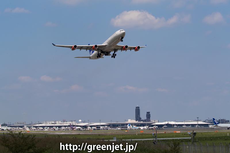 成田 ひこうきの丘 スカンジナビア航空 エアバス A340