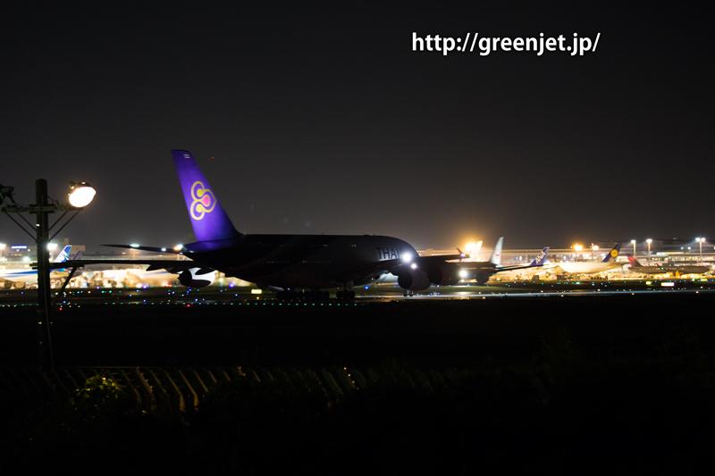 さくらの山の夜 タイ国際航空 エアバス A380-841