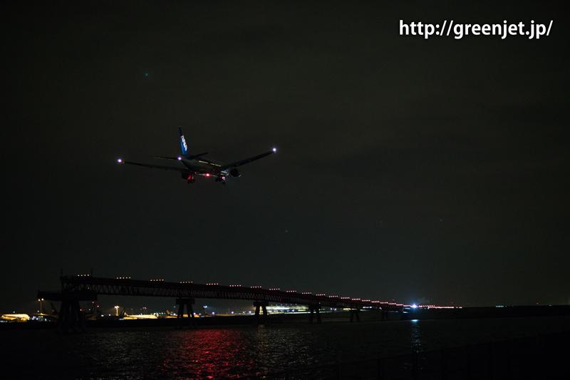 羽田 城南島海浜公園 ANA ボーイング777