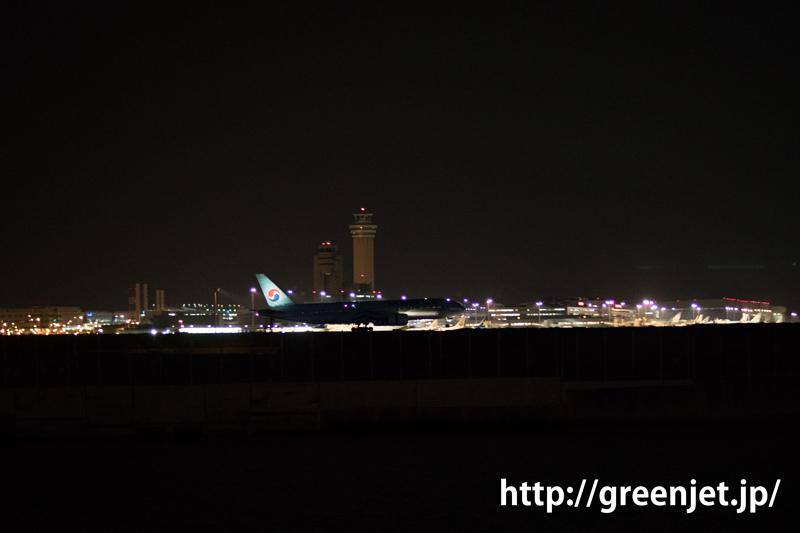 羽田 つばさ公園 korean air の飛行機