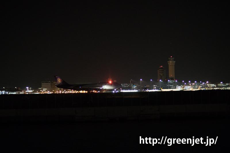 羽田 つばさ公園 タイ国際航空 ボーイング747