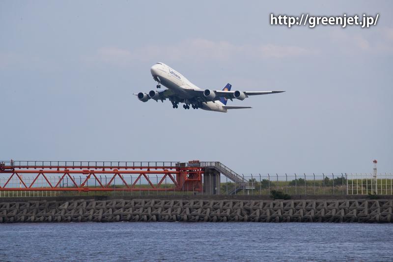 羽田 つばさ公園 ルフトハンザ航空 ボーイング 747-830