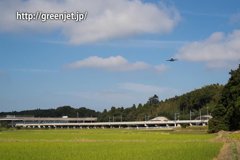 NCA(Nippon Cargo Airlines/日本貨物航空)のジャンボジェット電車のコラボ