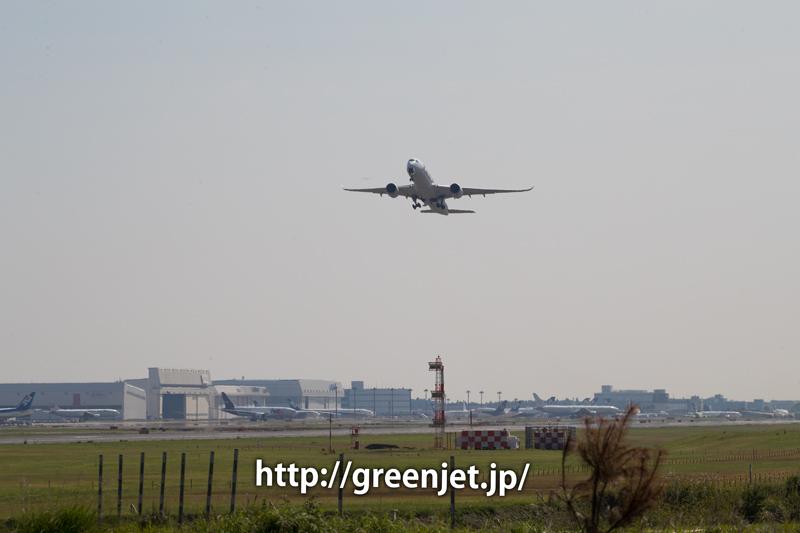 成田空港RWY34LからテイクオフするフィンエアーのエアバスA350