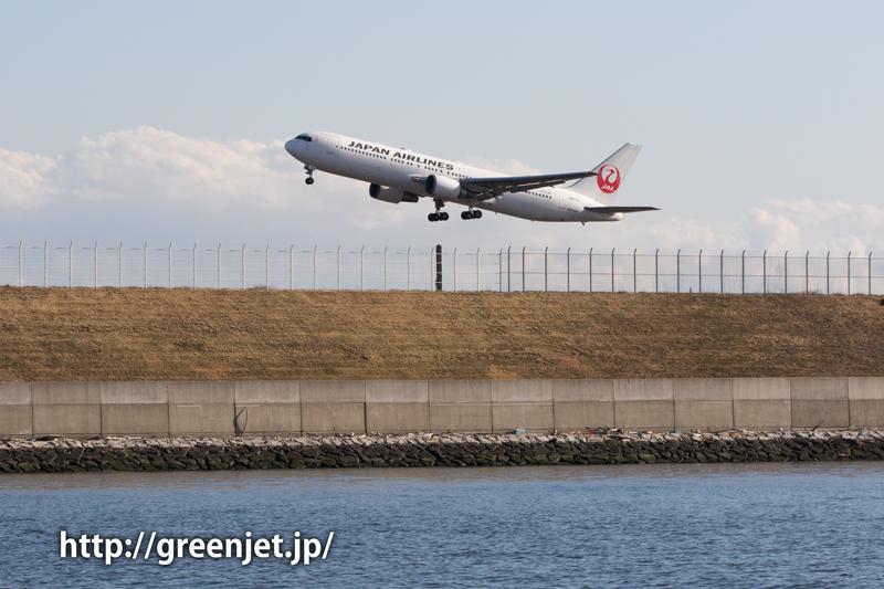 羽田で撮影したJALのボーイング767