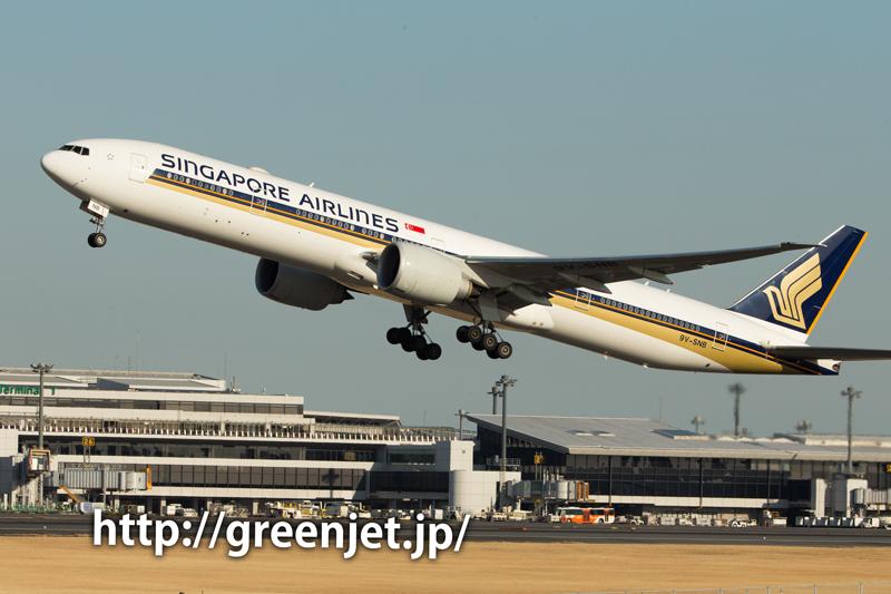 シンガポール航空のボーイング777-312/ER