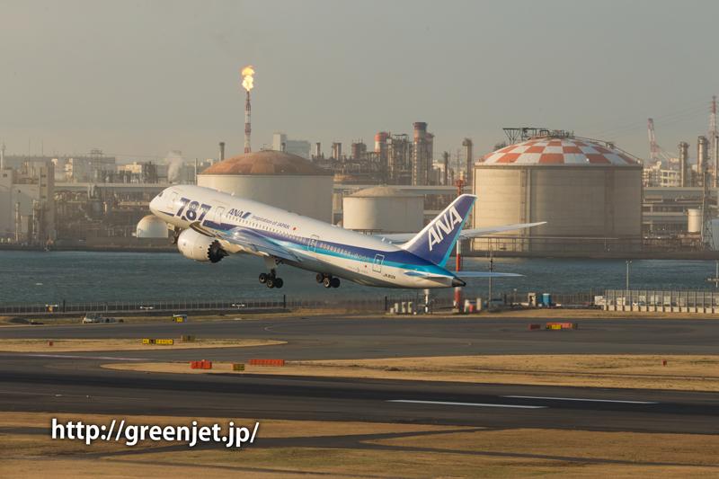 羽田で撮影したANAのボーイング787