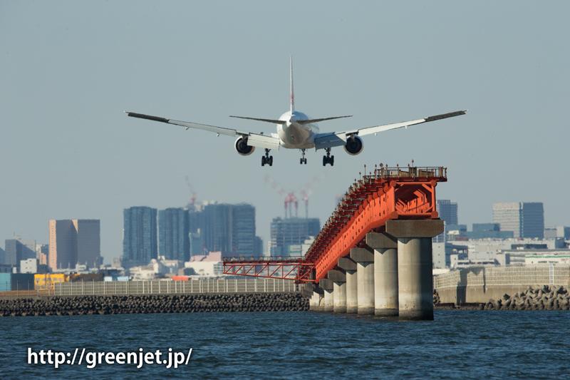 羽田で撮影したJALのボーイング777
