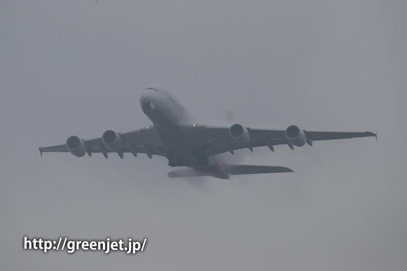 さくらの山で撮影/アシアナのA380