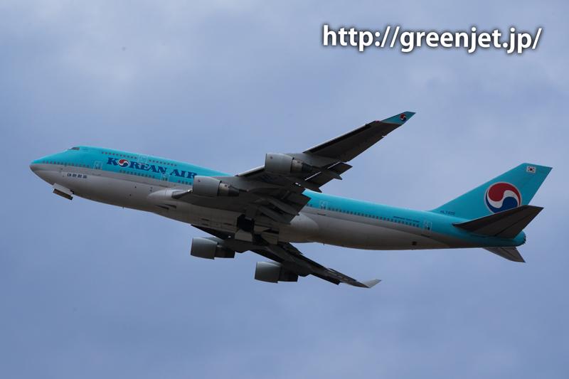 大韓航空のジャンボジェット(ボーイング747)