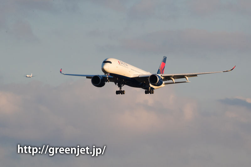 デルタ航空のエアバスA350@畑ポイント