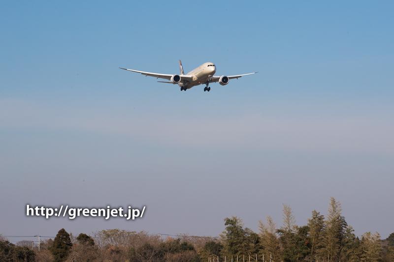 エティハド航空のボーイング787@成田