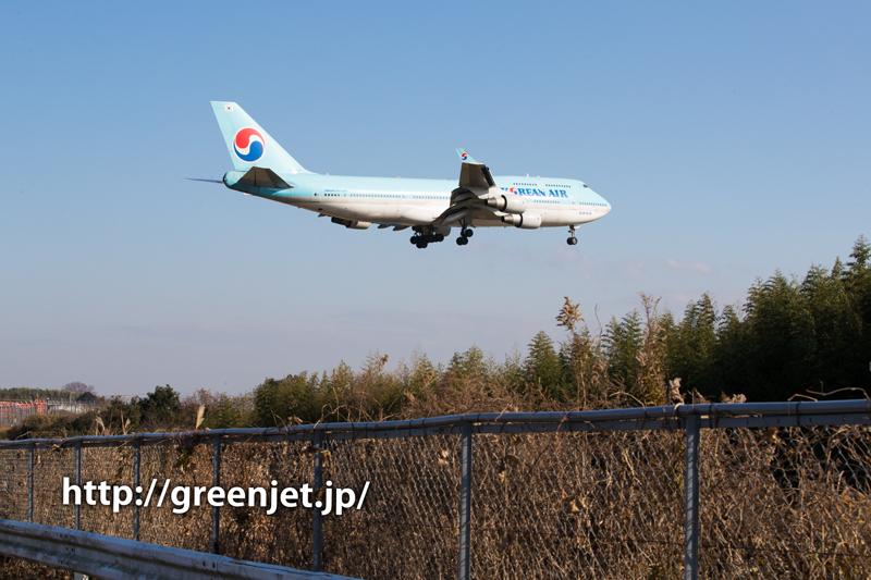大韓航空のジャンボジェット@野球場ポイント