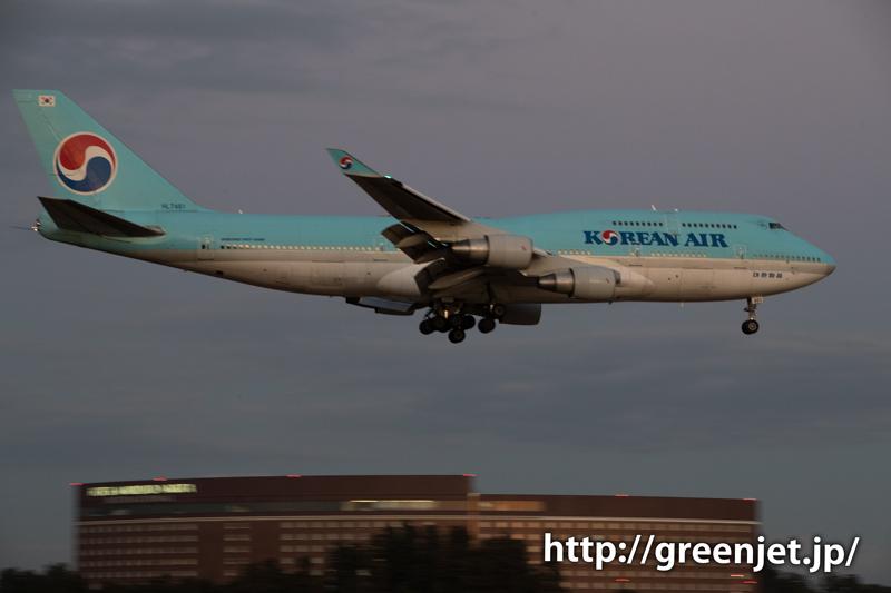 大韓航空のジャンボジェット@さくらの山