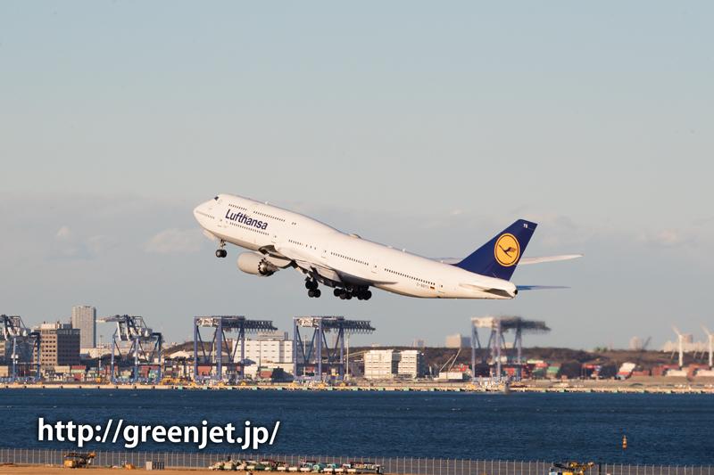 ルフトハンザドイツ航空のジャンボジェット@羽田/RWY34R