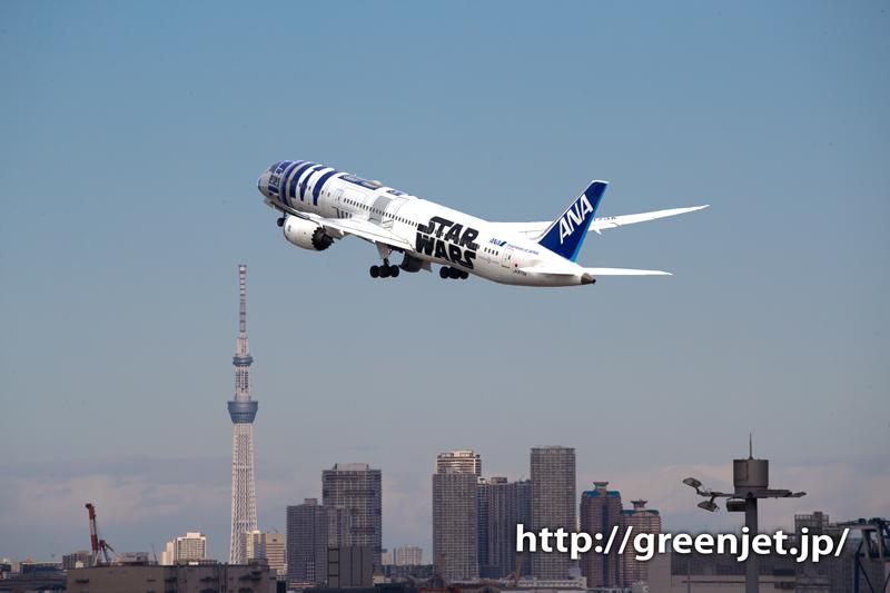 スターウォーズジェット/R2-D2と東京スカイツリー
