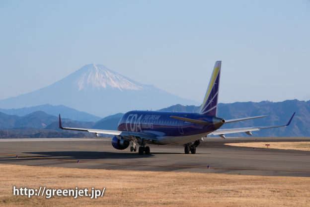 FDA6号機@富士山静岡空港展望広場から撮影