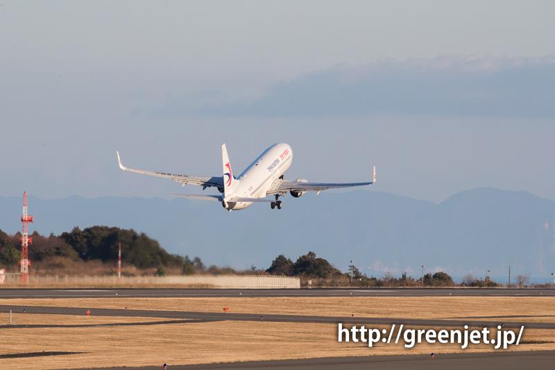 チャイナイースタンのボーイング737@富士山静岡空港