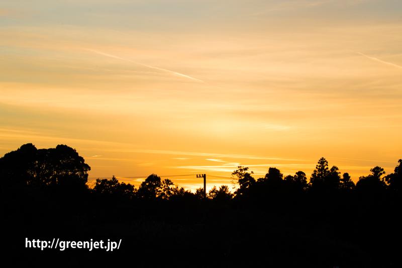 富士山静岡空港で撮影した夕陽