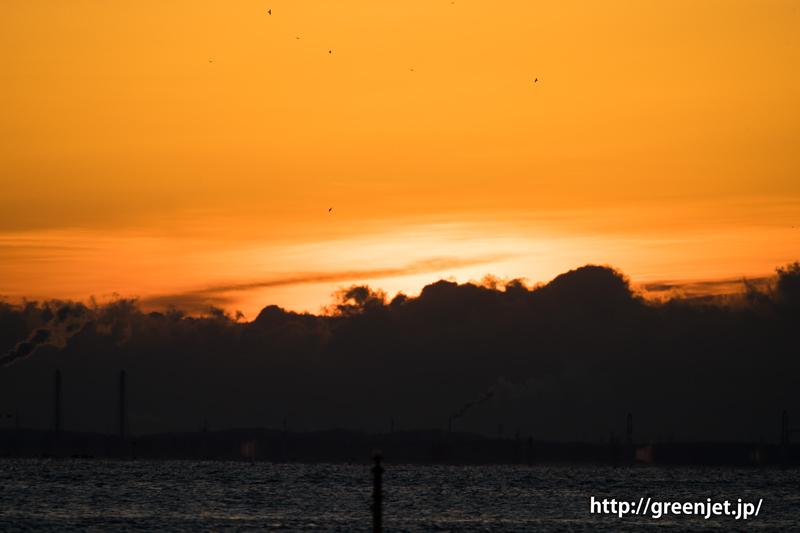 城南島の朝焼け