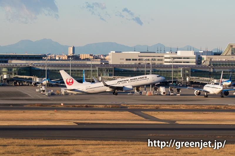 JALのB737と富士山@羽田
