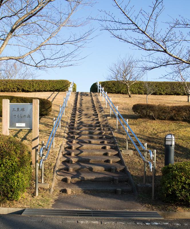 三里塚さくらの丘の展望広場への階段
