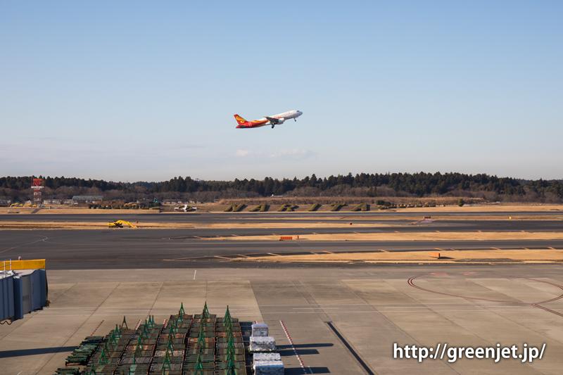 【成田の飛行機撮影スポット】第一ターミナル展望デッキ@香港航空のA320