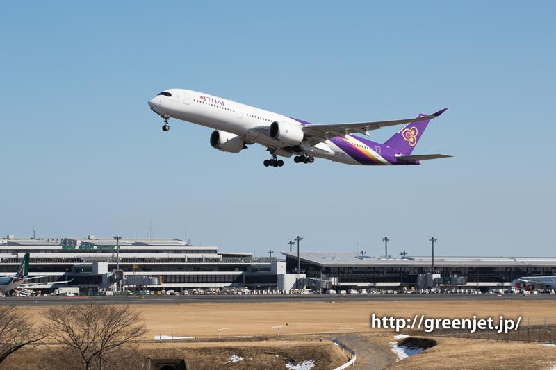 【成田の飛行機撮影スポット】奥の細道@タイのA350