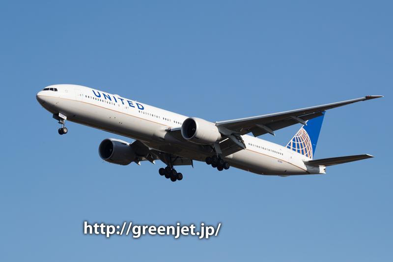 【成田の飛行機撮影スポット】グリーンポート エコ・アグリパーク@ユナイテッドのB777