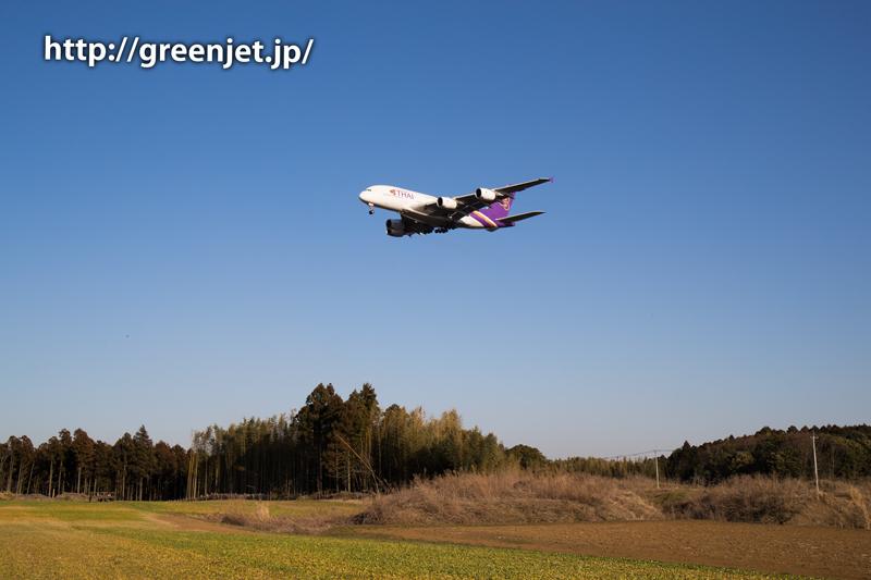 【成田の飛行機撮影スポット】グリーンポート エコ・アグリパーク@タイのA380