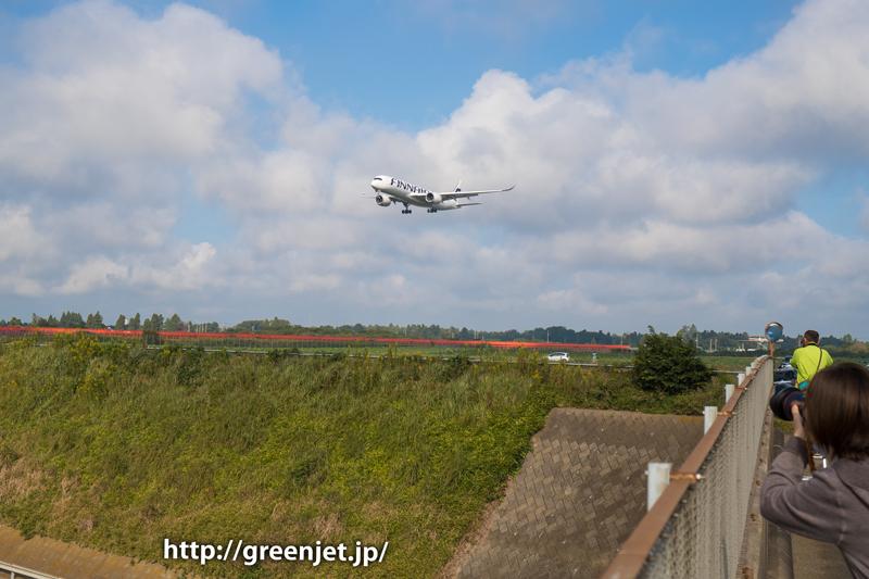 【成田の飛行機撮影スポット】第三四本木橋@フィンエアーのA350