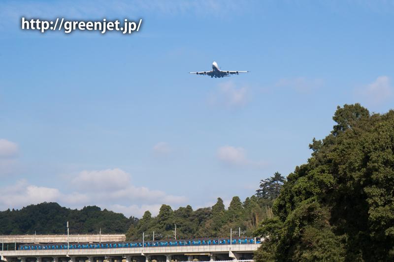 【成田の飛行機撮影スポット】小菅橋@NCAのB747
