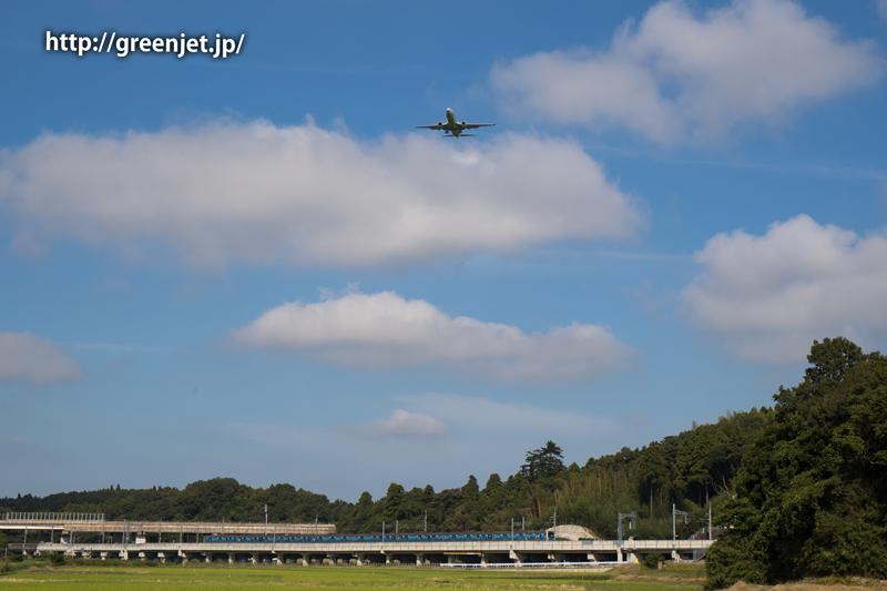【成田の飛行機撮影スポット】小菅橋@ジンエアーのB737