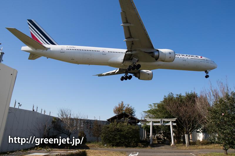 【成田の飛行機撮影スポット】東峰神社/エールフランスのB777