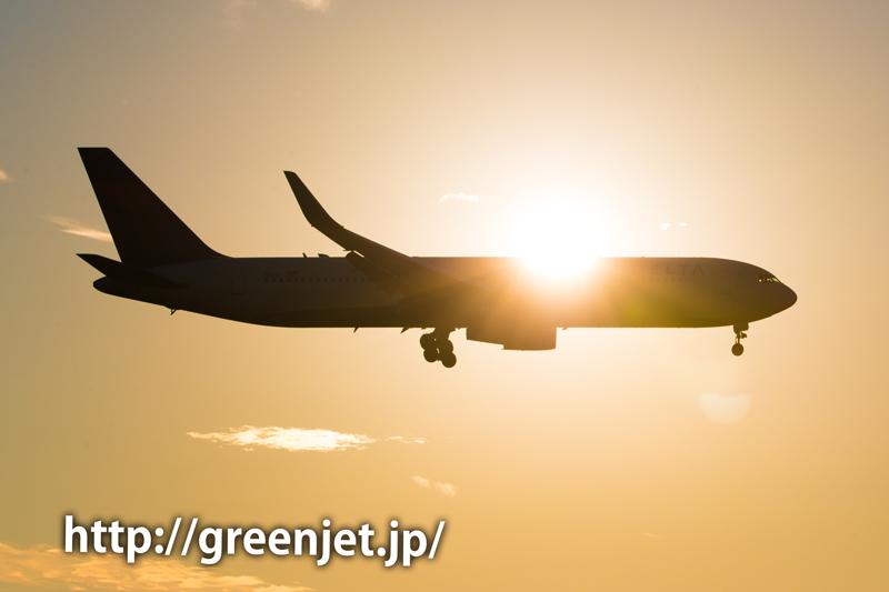 【成田の飛行機撮影スポット】航空科学博物館@デルタのB767
