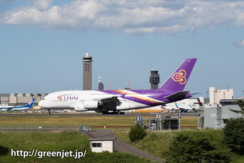 【成田の飛行機撮影スポット】奥の細道@タイのA380