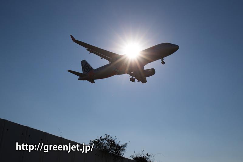 【成田の飛行機撮影スポット】東峰トンネル入口@JETスターのA320