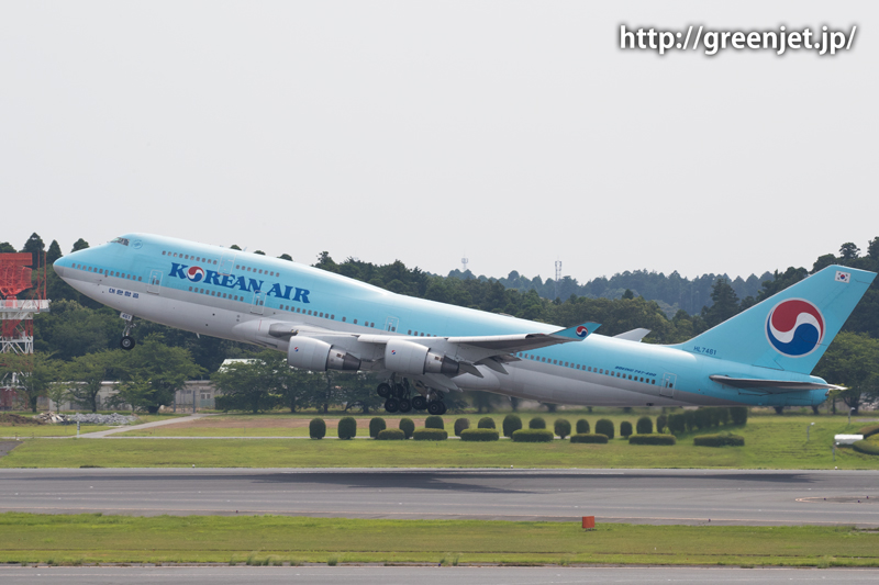 【成田の飛行機撮影スポット】第一ターミナル展望デッキ@大韓航空のB747