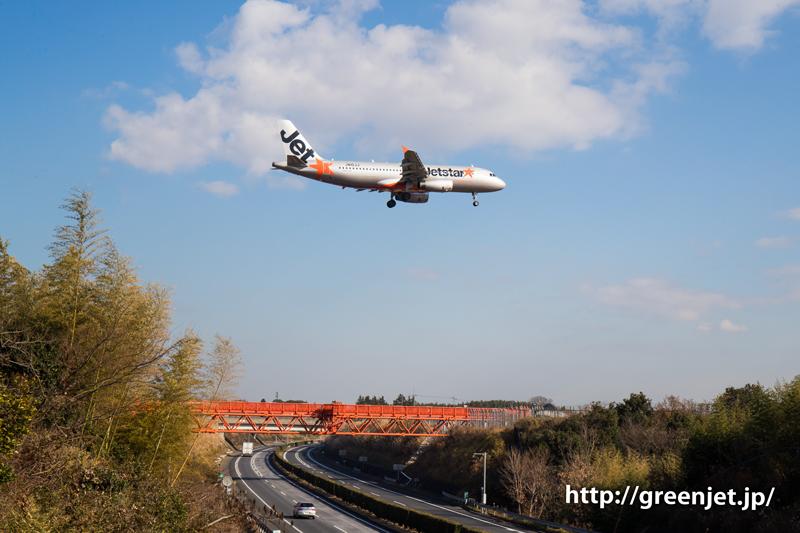 【成田の飛行機撮影スポット】野球場ポイント@ジェットスターのA320