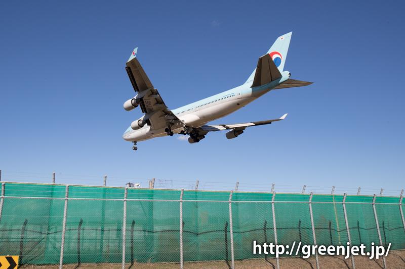 【成田の飛行機撮影スポット】東峰トンネル入口@大韓航空のB747