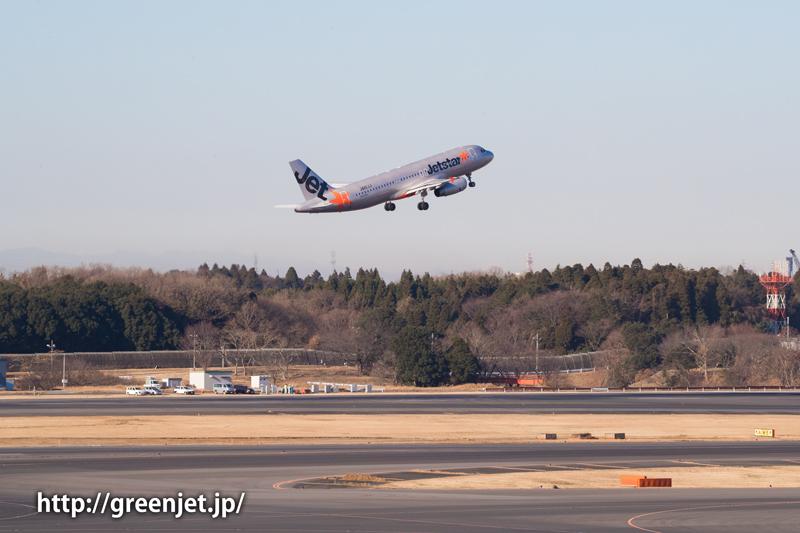 【成田の飛行機撮影スポット】第一ターミナル展望デッキ@ジェットスターのA320