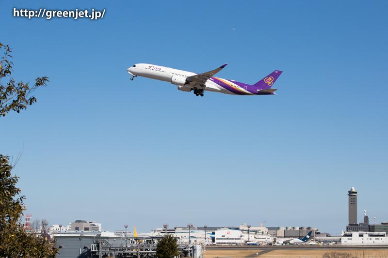 タイ航空のエアバスA350@奥の細道