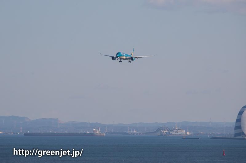 東京湾とベトナム航空のエアバスA350!