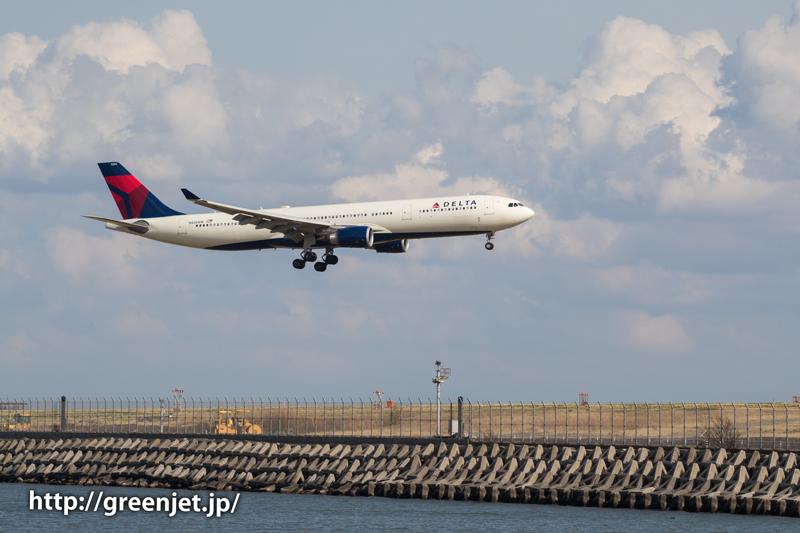 デルタ航空のエアバスA330@京浜島つばさ公園